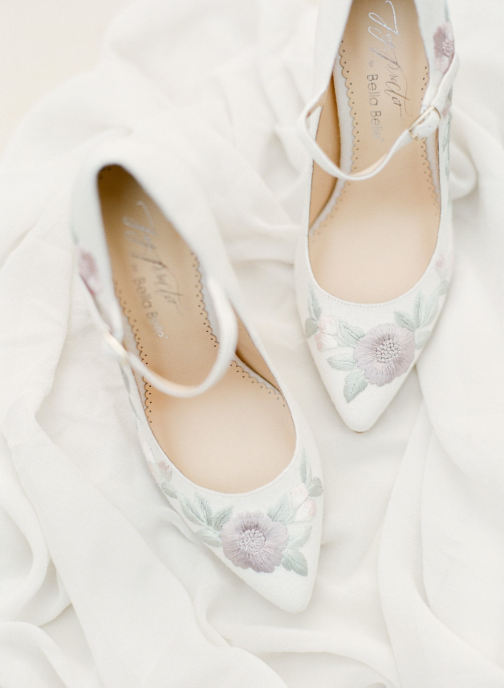 Bella Belle Adeialde floral vintage wedding heel by Joy Proctor