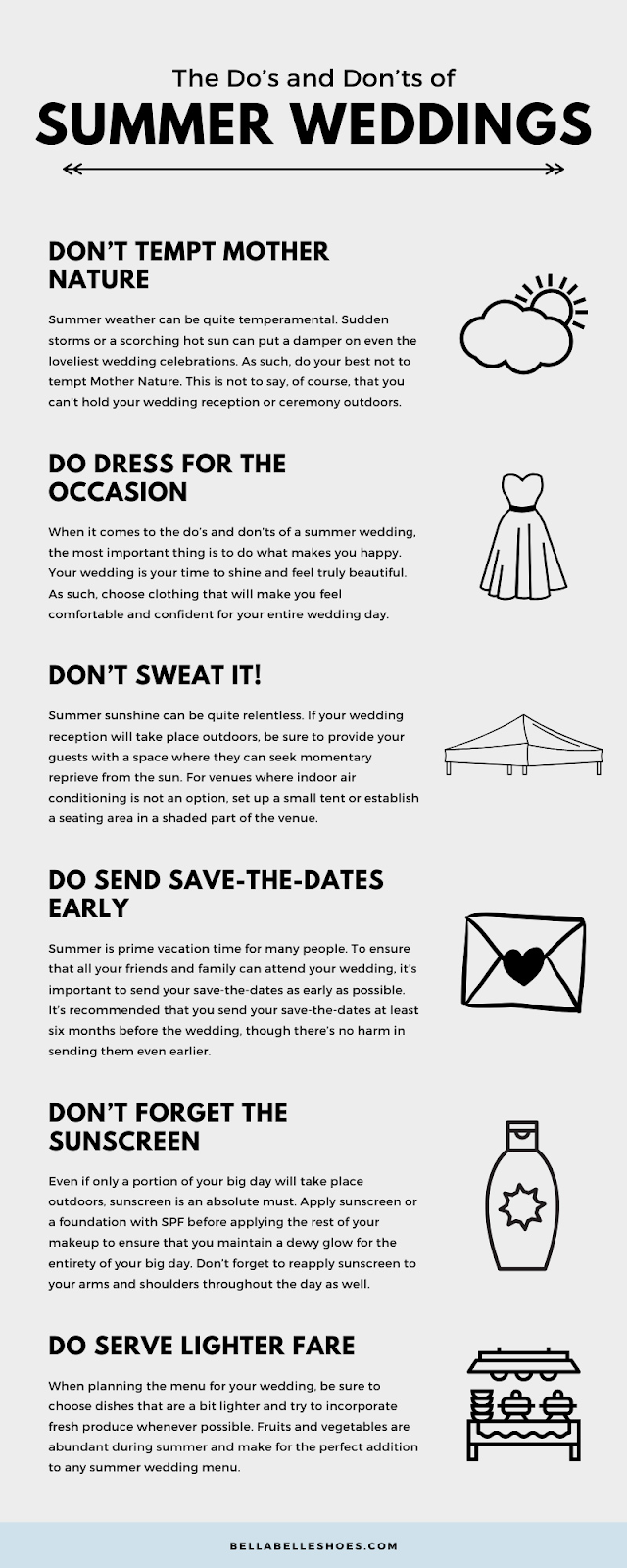 summer wedding do's and don'ts