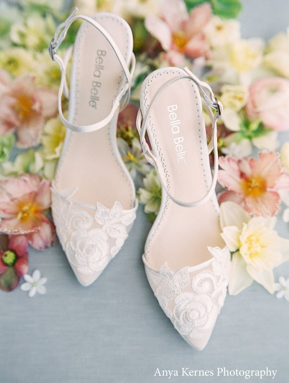 bella belle sylvia ivory lace wedding shoe