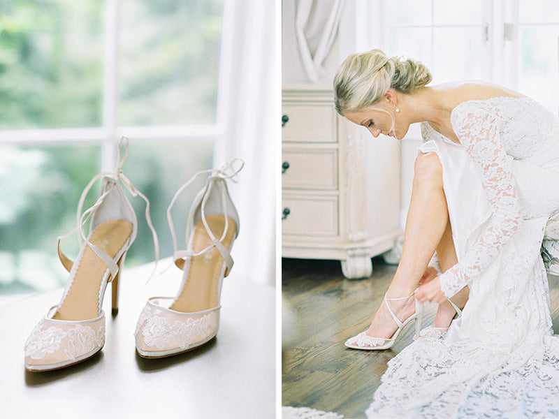 bella belle real bride vanessa in anita wedding shoe
