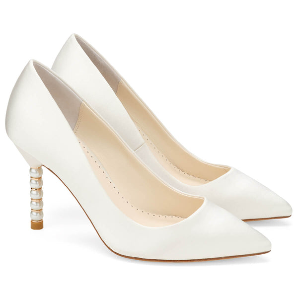 Bella Belle Audrey Pearl Heel Shoes
