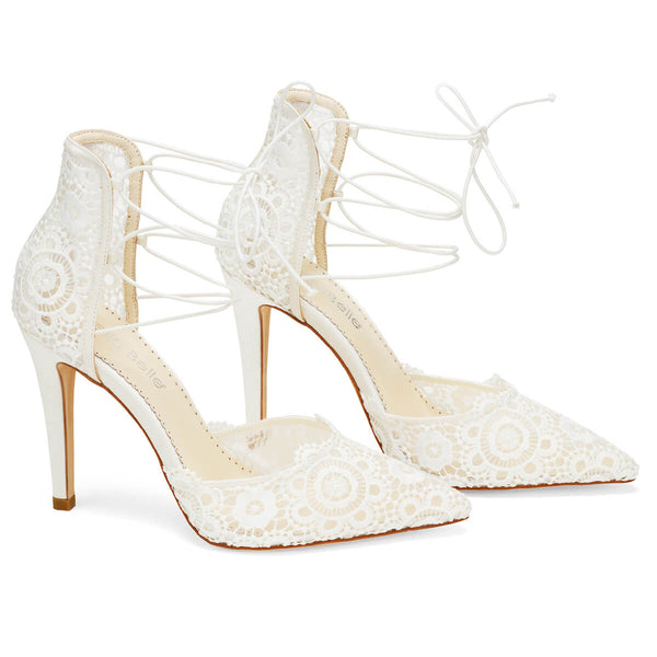 Bella Belle Cameron lace up wedding heels