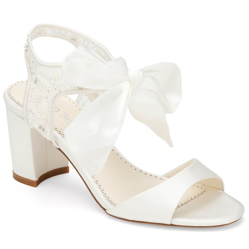 Bella Belle Camilla open toe block heel wide feet