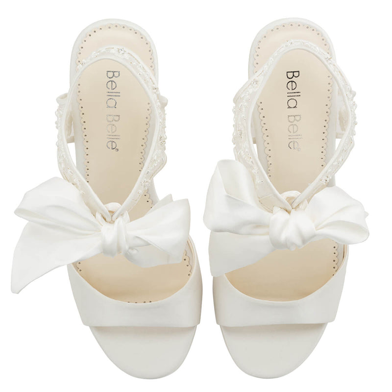 Bella Belle Camilla open toe wedding shoe wide feet