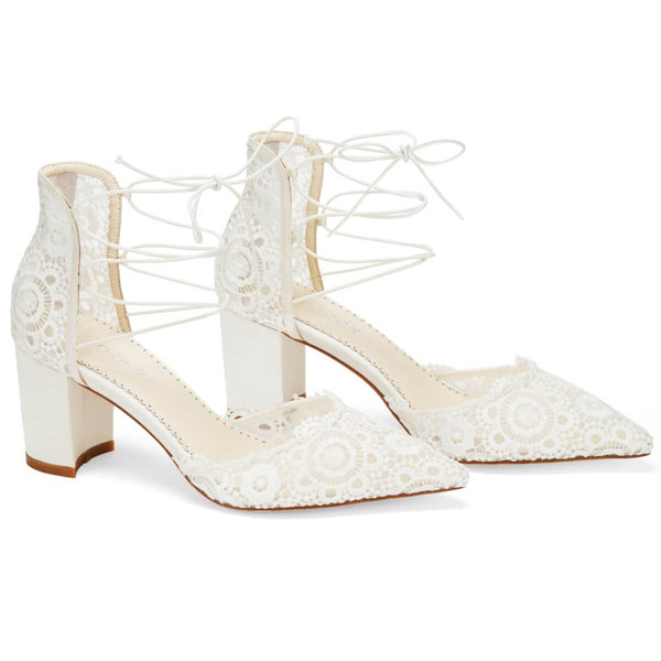 Bella Belle Cassie lace up block heels