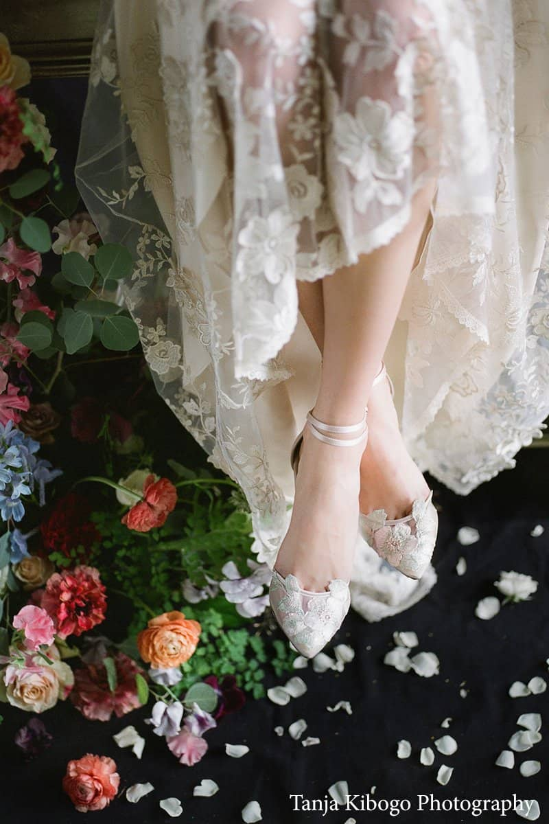 Bella Belle Flora blush wedding shoe boho wedding heel