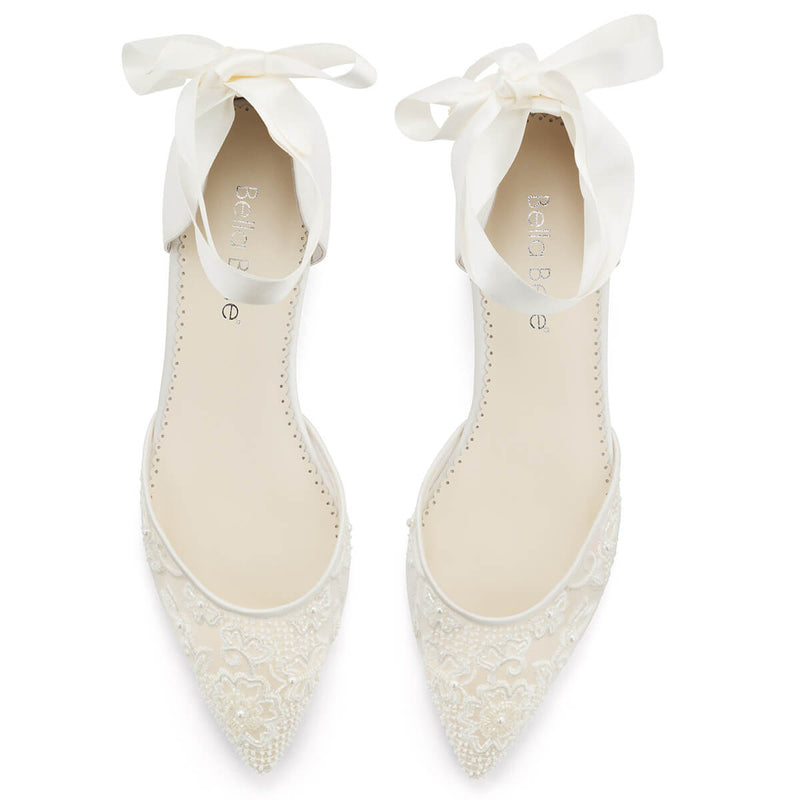 Bella Belle Ivy lace flat wedding shoes