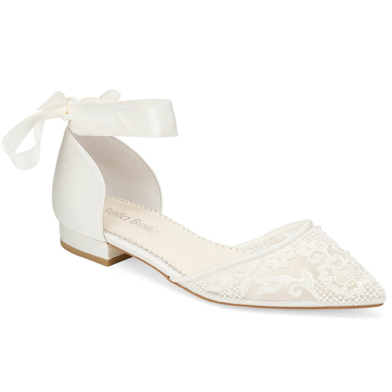 Bella Belle Ivy pearl and lace wedding shoes