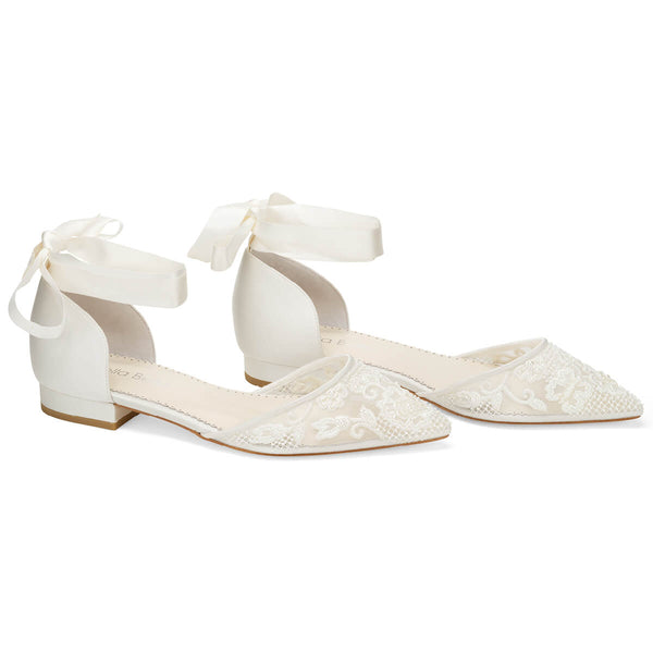 Bella Belle Ivy pearl wedding flats