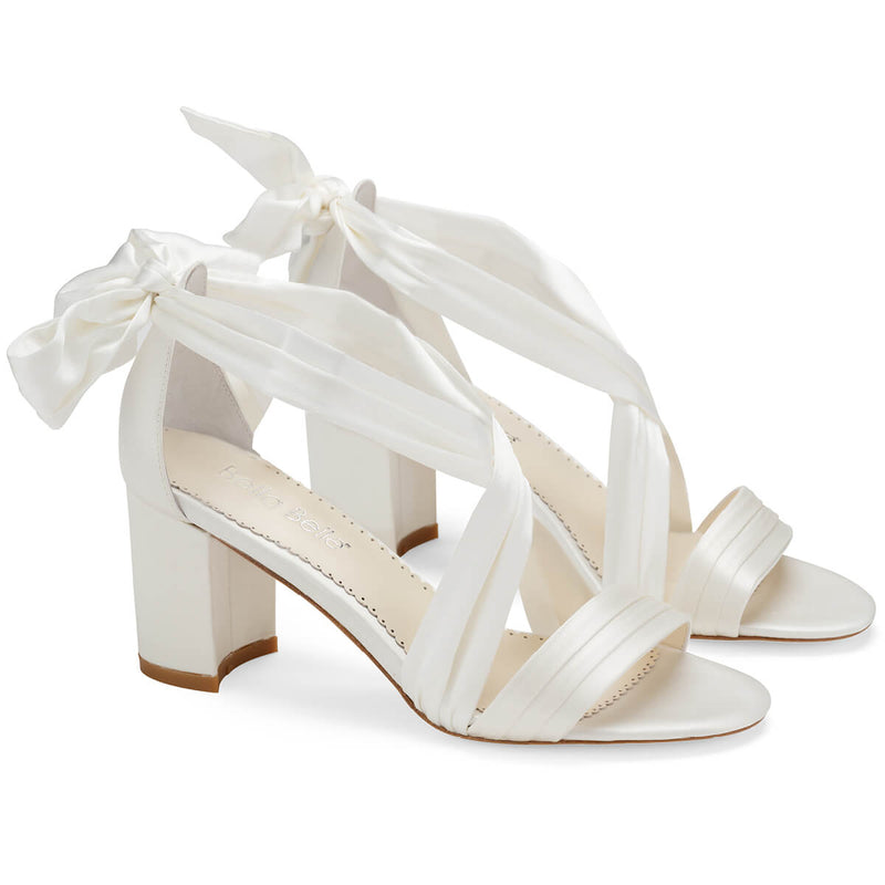 Bella Belle Kelly ribbon heels