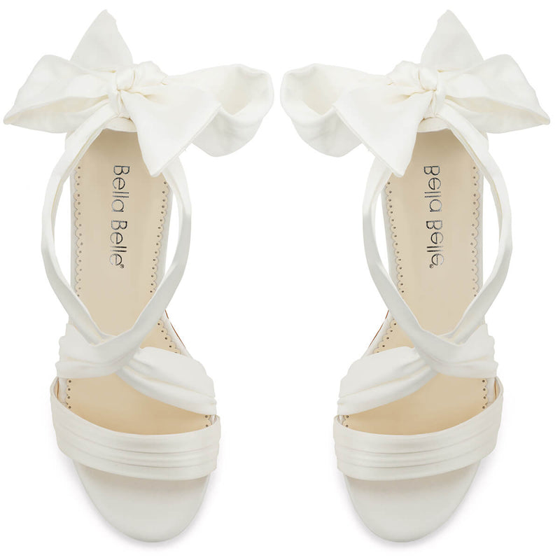 Bella Belle Kelly ribbon strap heels