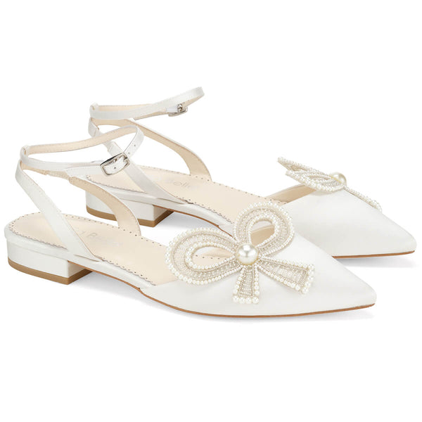 Bella Belle Kendra pearl flat shoes