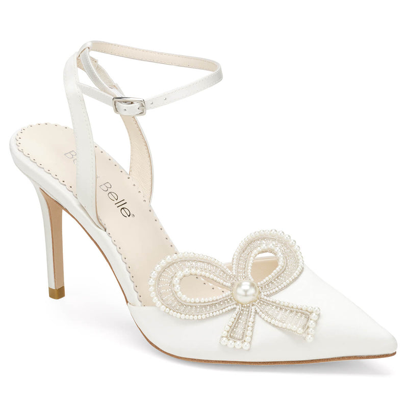 Bella Belle Kenzie ankle strap heels with bow