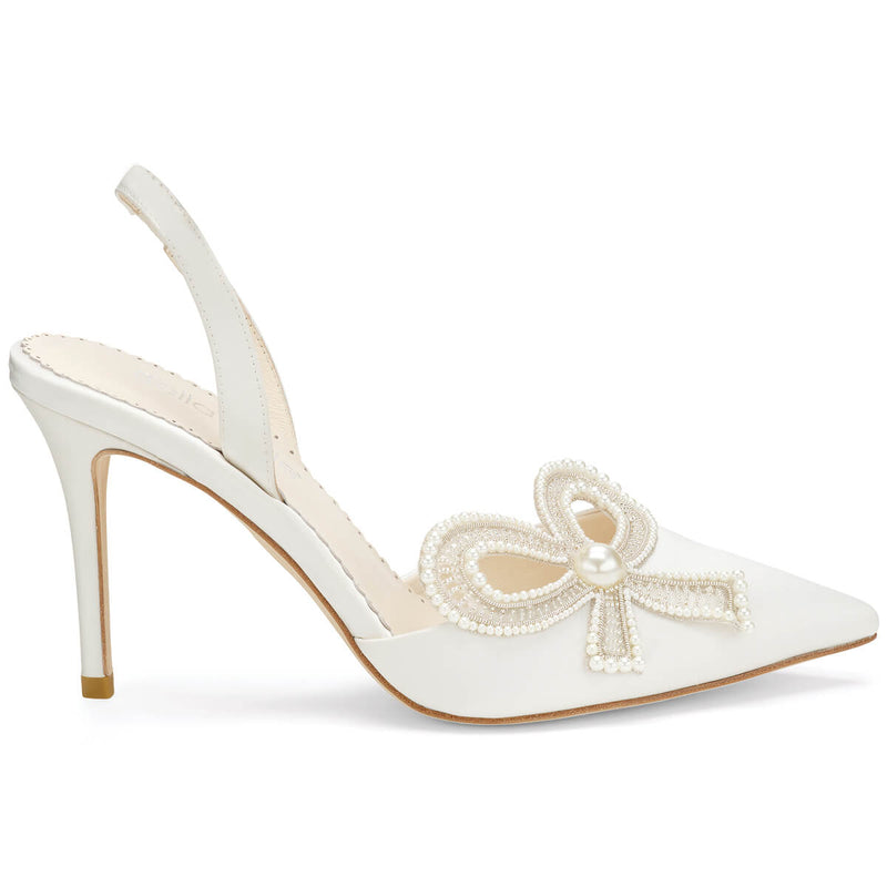 Bella Belle Kenzie bridal shoes with pearls
