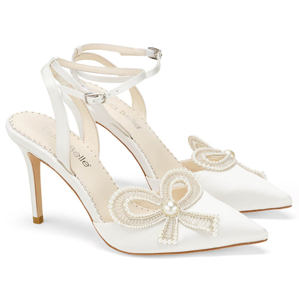 Bella Belle Kenzie pearl bow shoes