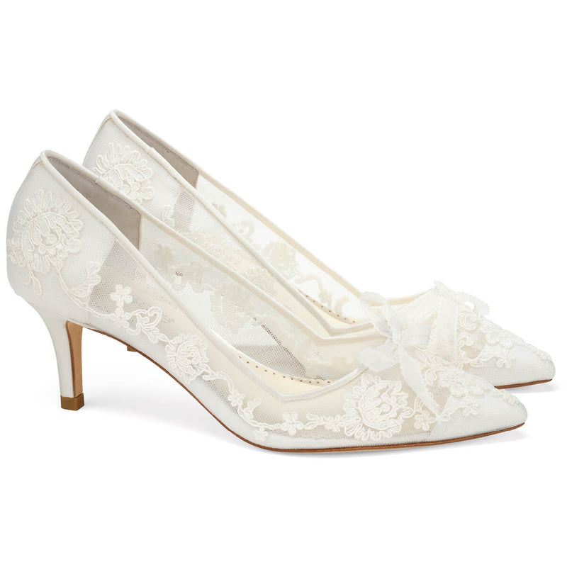 Bella Belle Monica lace low heel shoes