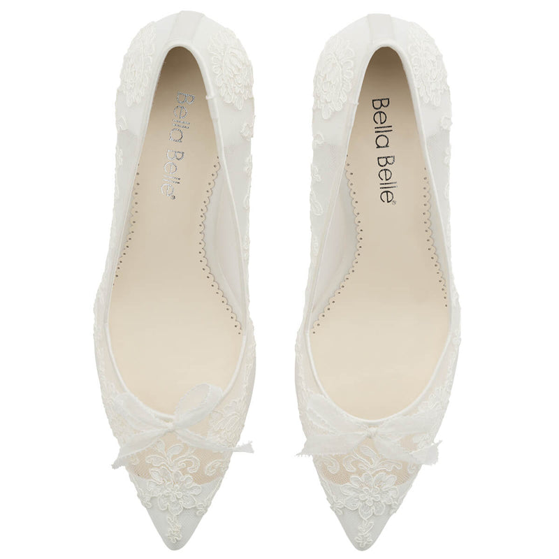 Bella Belle Monica wedding shoe with flowers