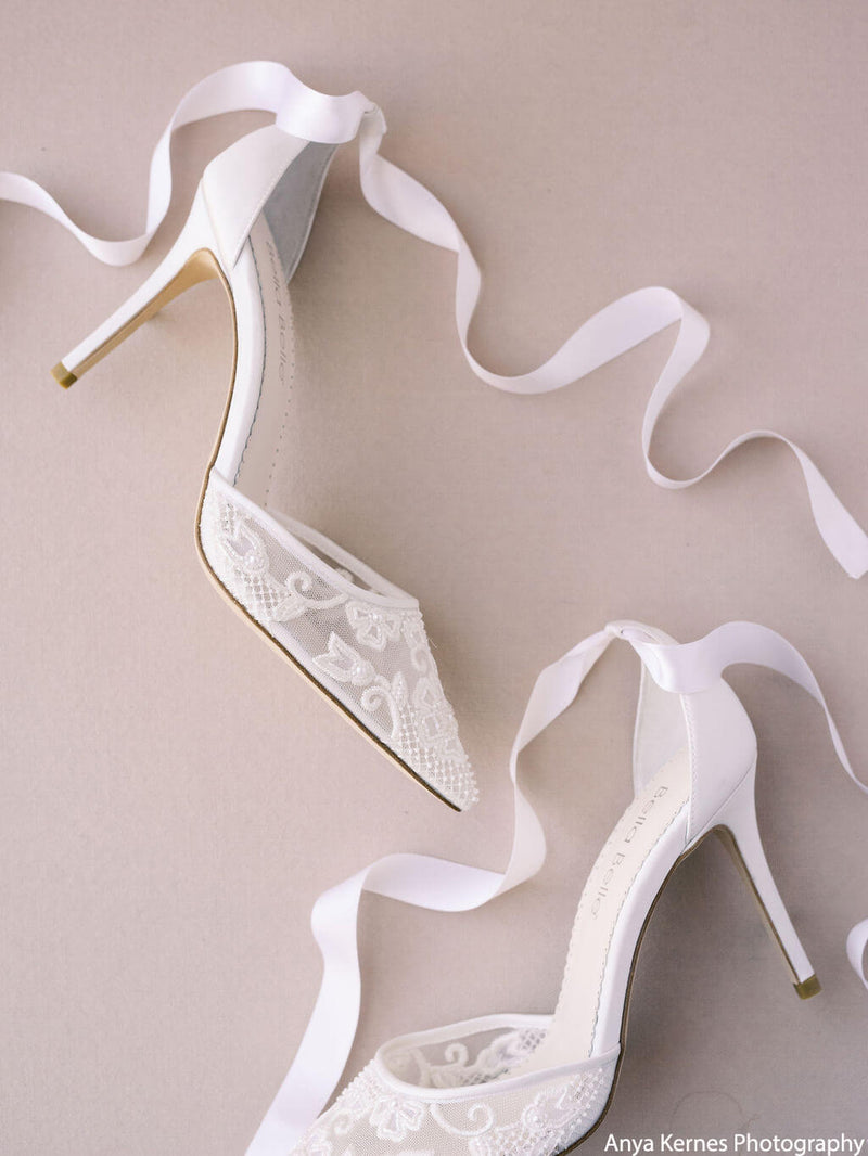 Bella Belle Penelope pearl bridal shoes heels