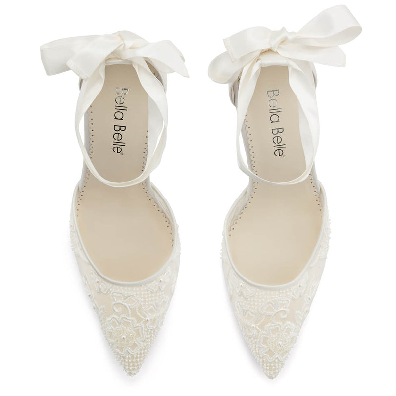 Bella Belle Penelope pearl bridal shoes