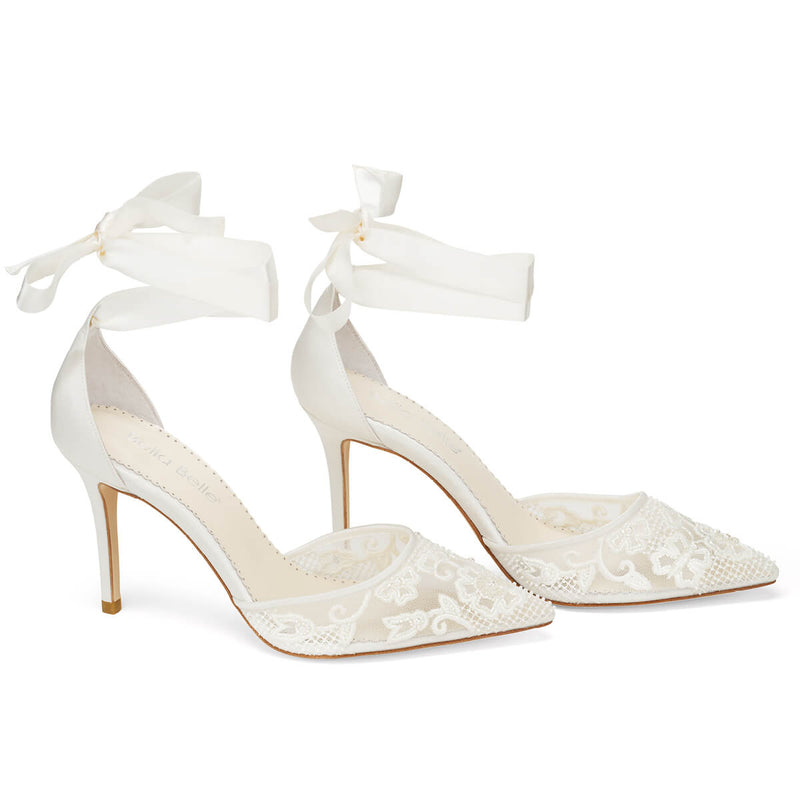 Bella Belle Penelope wedding heels with pearls