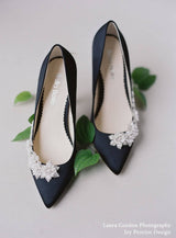 bella belle jasmine floral pearl black evening pump-Design View