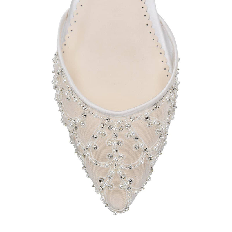 bella belle ines art deco pearl and ivory beads wedding flat - Design View