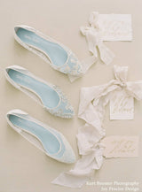 Hailey white wedding flat editorial - Top View