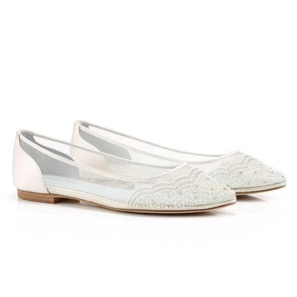 Hailey white wedding flat