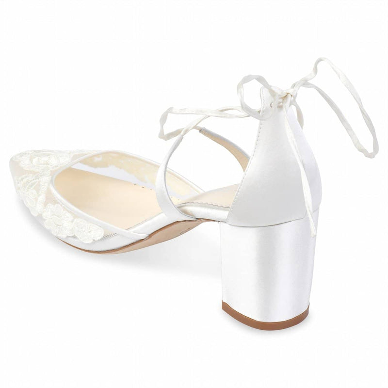 Bella Belle Abigail Block Heel Lace Wedding Shoes