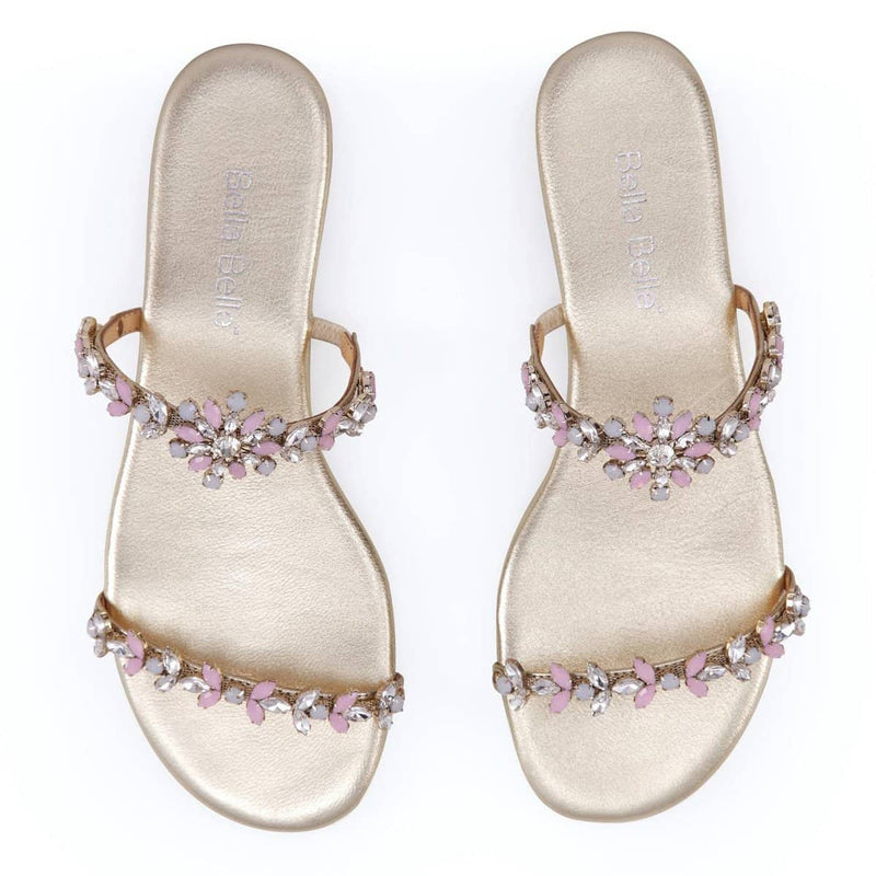 Jules jeweled wedding sandal - Front View