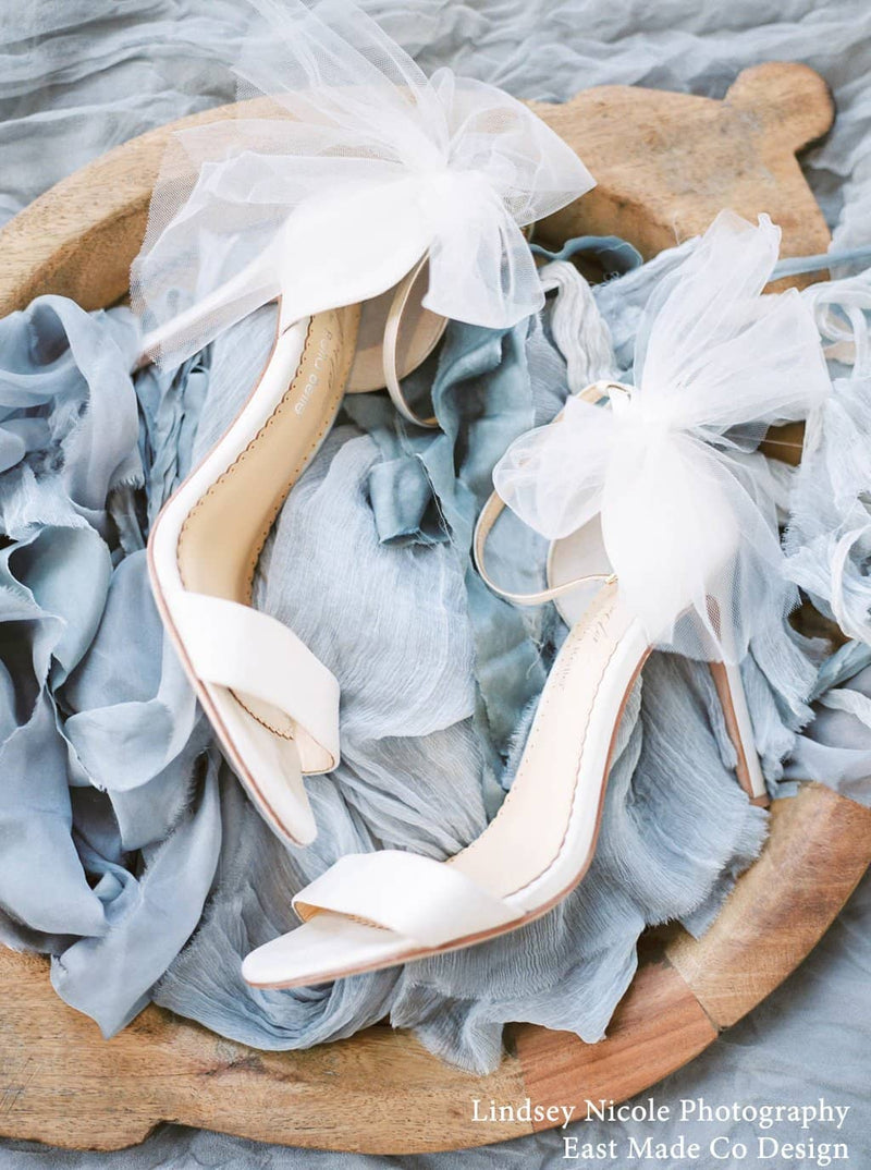 Bella Belle Elise Bow Tulle Wedding Heels by Joy Proctor