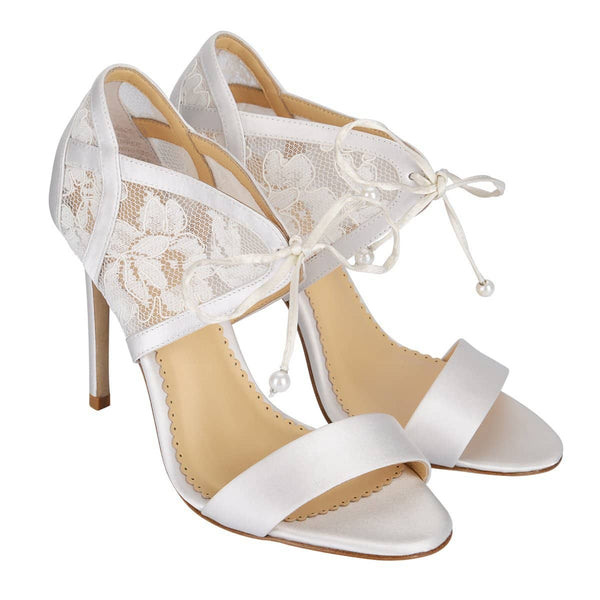 Lace wedding Heels Grace Ivory
