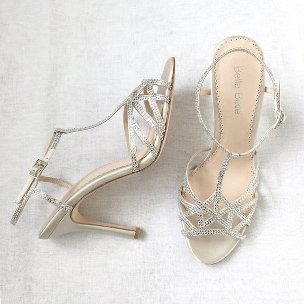 Gia nude wedding heels
