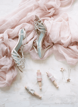 Bella Belle Gia Crystal Champagne Bridesmaid Shoes