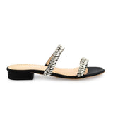 Bella Belle Bree Crystal Jewel Black Evening Sandals