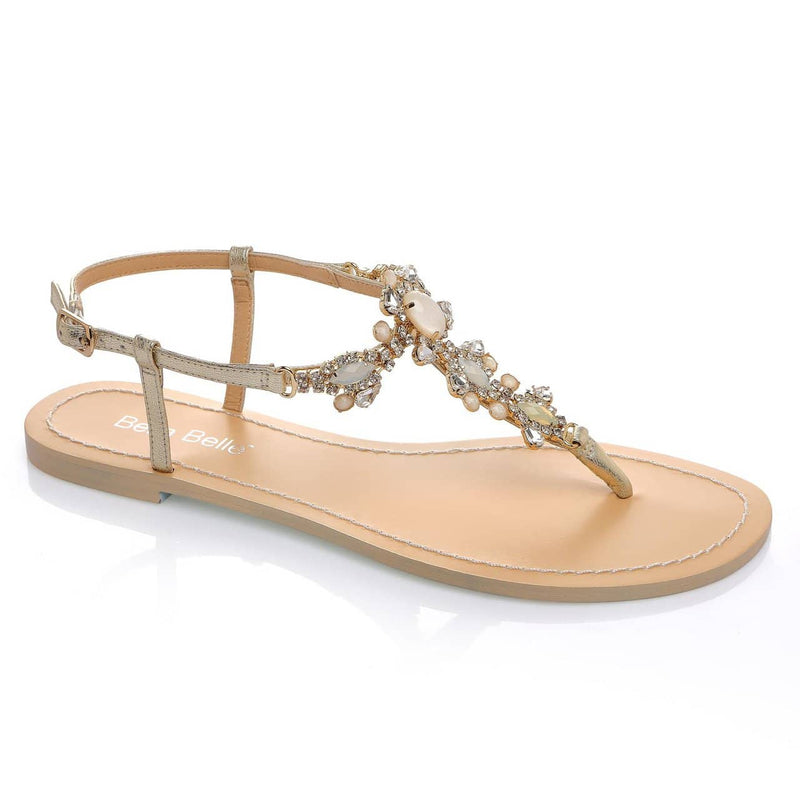Luna jeweled wedding sandal
