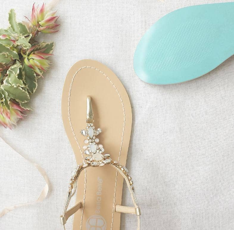 Luna jeweled wedding sandal editorial