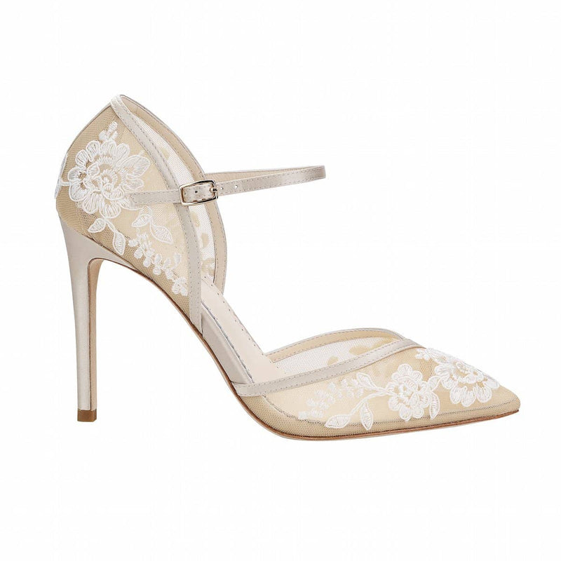 bella belle claudia nude lace wedding heel