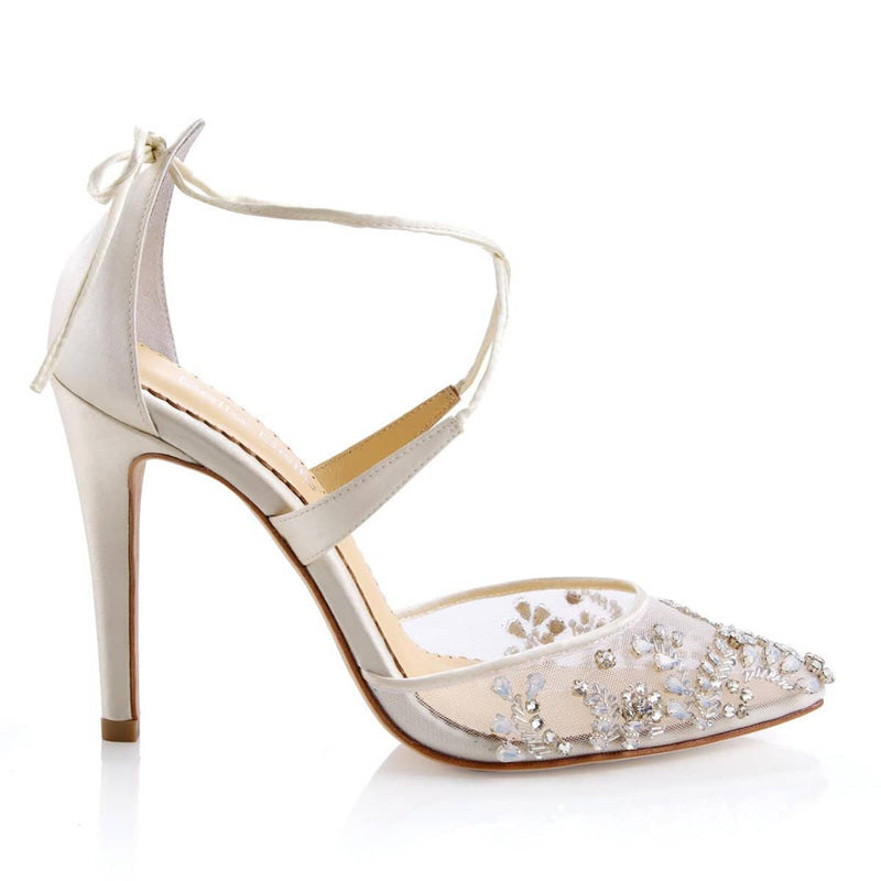 Florence jeweled wedding heels