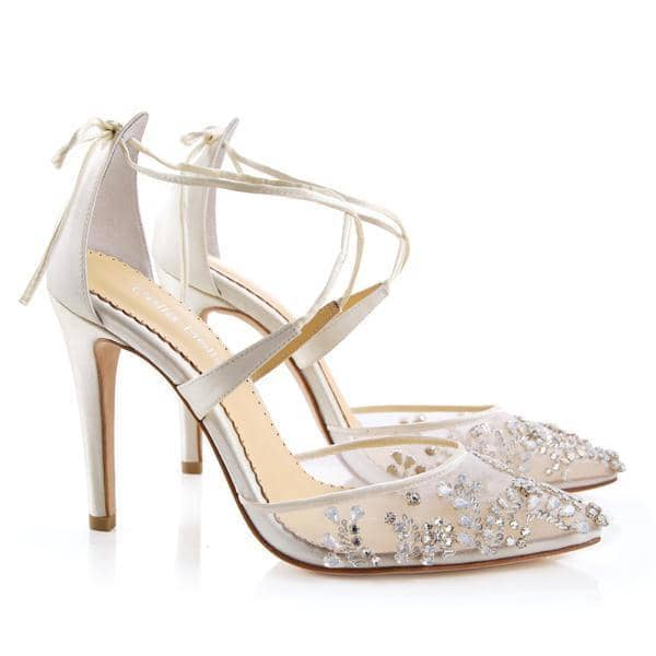 Bella Belle Florence Embellished Ivory Crystal Wedding Heels