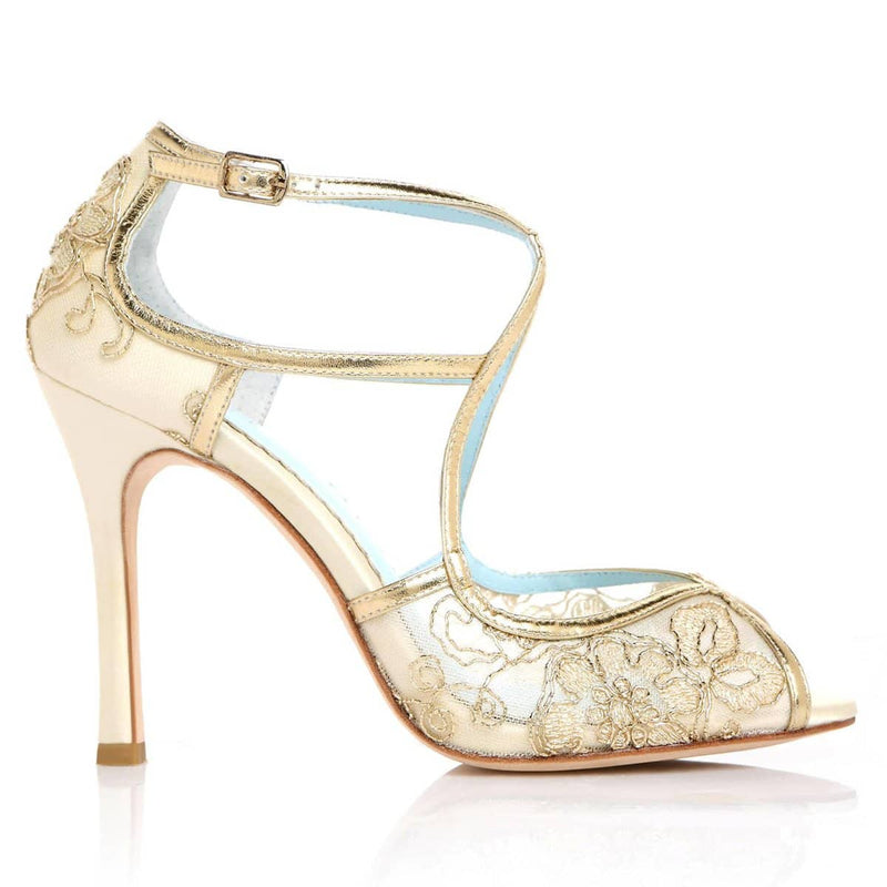 Tess gold wedding heel