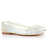 Transparent Wedding Shoes With Blue Sole