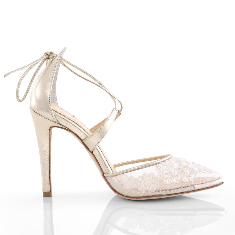 Anita gold wedding heel