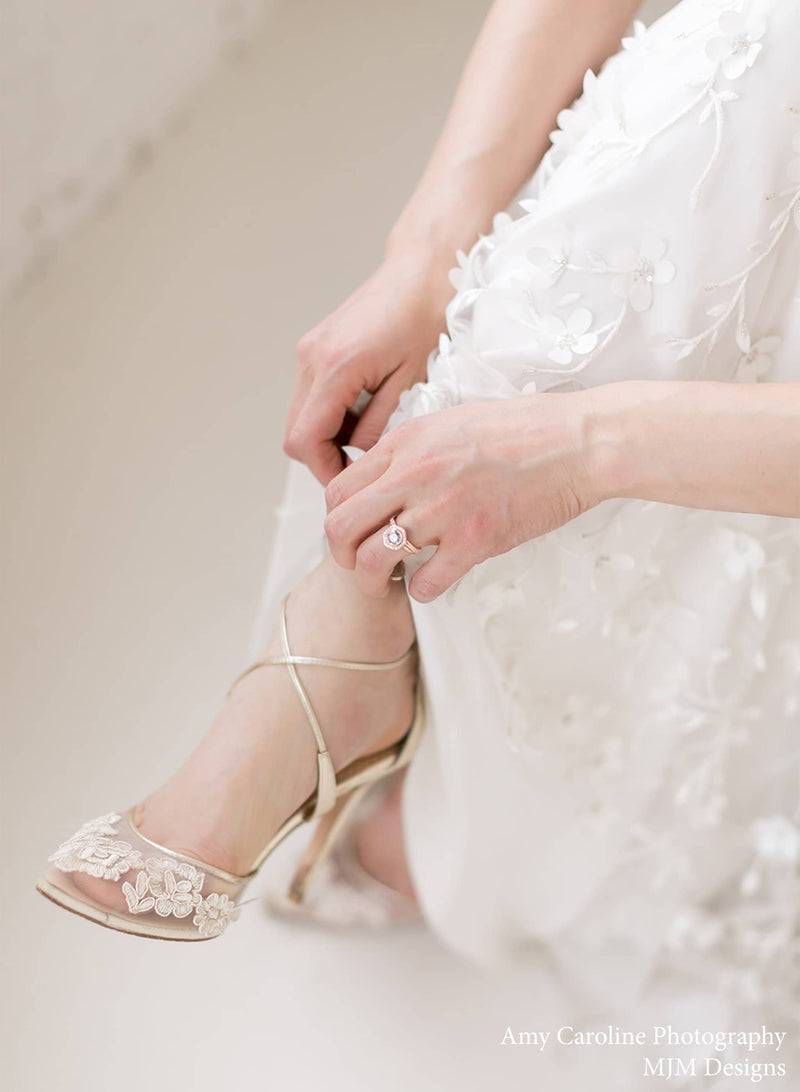 Bella Belle Anita Gold Gold Lace Wedding Shoes