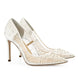 Bella Belle Elsa Ivory Sequin Crystal Designer Wedding Shoes