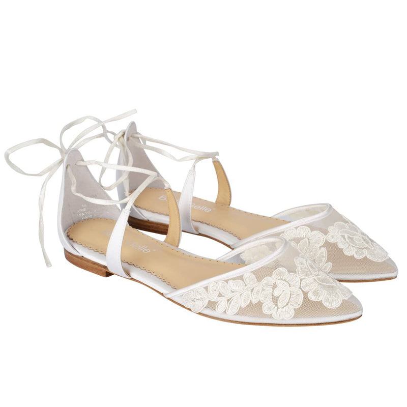 Alicia Floral Lace Ballet Ivory Wedding