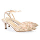 Bella Belle Rosa Blush Pink Low Heel Pearl Wedding Shoes