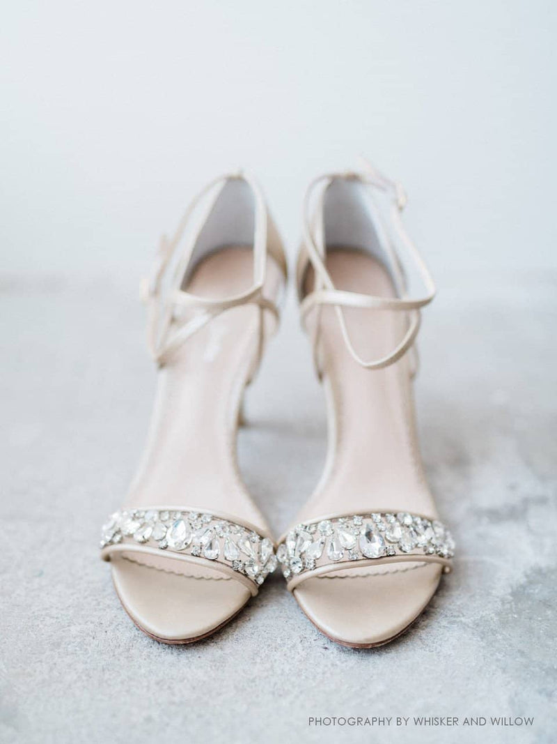 Filipa nude wedding heels editorial