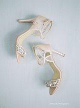 Bella Belle Filipa Nude Jewel Toe Bridesmaid Shoes