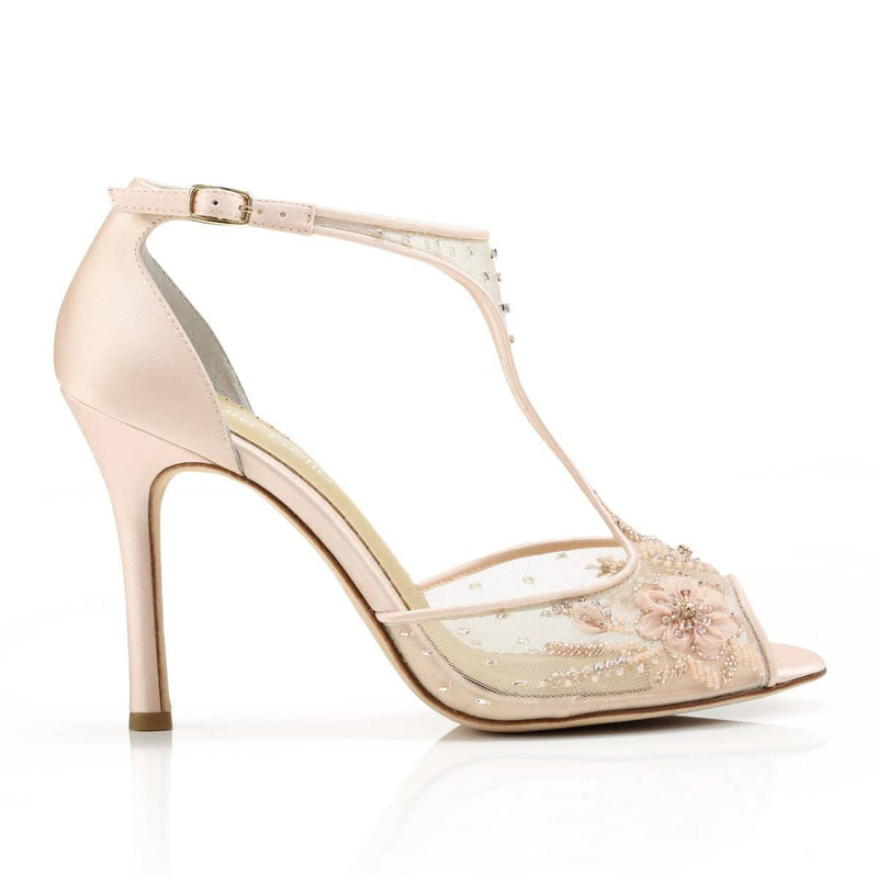 Paloma blush wedding heel